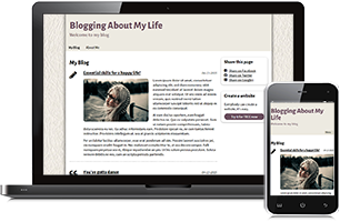 my-life website example
